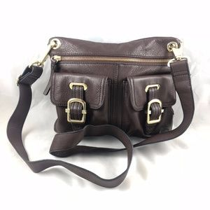 Etienne Aigner Brown Leather Cross Body